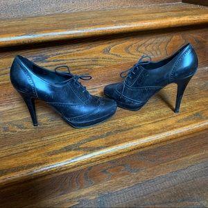 Black Jcrew Oxford Heels